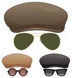 Солнечные очки плоской крышки Стоковое фото RF