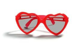 Солнечные очки сердца форменные Стоковые Фото