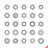 солнечные очки солнца икон конструкции ваши Стоковое Изображение