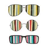Солнечные очки с striped отражением Стоковая Фотография RF