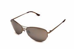 Солнечные очки Brown изолированные на белизне Стоковая Фотография RF