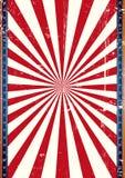Солнечные лучи красного цвета предпосылки США Стоковое фото RF