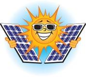 Солнечные фотовольтайческие панели Иллюстрация штока