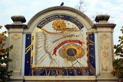 Солнечные часы в саде Groningen Нидерланды Стоковое Изображение