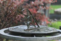Солнечные часы металла Стоковая Фотография RF
