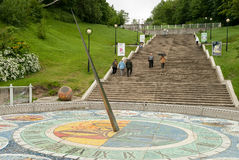 Солнечные часы мозаики в Svetlogorsk, России Стоковые Изображения RF