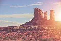 Солнечный ландшафт Аризоны Стоковые Изображения