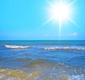 Солнечный ландшафт Стоковое фото RF