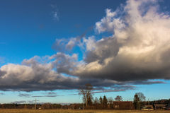 Солнечный ландшафт Стоковые Фото
