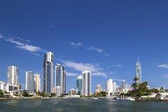 Солнечный взгляд рая серферов на Gold Coast Стоковое фото RF