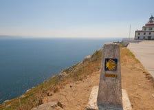 Солнечный взгляд Finisterre, Галиции, Испании Стоковые Изображения RF