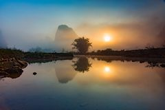 Солнечный в Cao Bang Стоковые Изображения RF