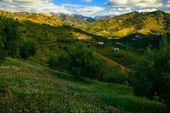 Солнечный день и горы в Малаге стоковое фото