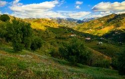 Солнечный день и горы в Малаге Стоковое Изображение