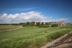 Солнечный день на великобританском пляже Стоковые Фотографии RF