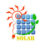 Солнечный значок Стоковое фото RF