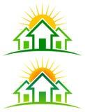 Солнечный домашний логотип бесплатная иллюстрация