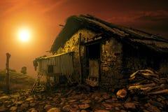 Солнечный дом Стоковое Изображение RF