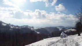 Солнечный пейзаж зимы Стоковые Фотографии RF