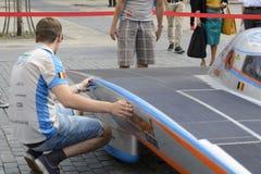 Солнечный приведенный в действие автомобиль Антверпен Стоковые Изображения RF