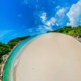 Солнечный пляж Стоковая Фотография RF