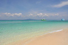 Солнечный пляж Стоковое фото RF