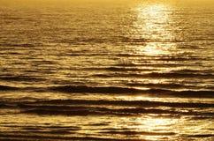 Солнечный свет вечера над морем стоковое фото rf