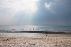 Солнечный свет и море стоковое фото rf