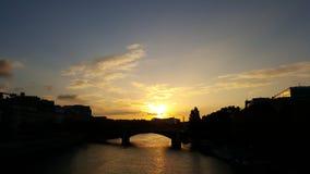 Солнечный свет Париж Стоковое Изображение