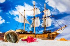 Солнечный состав вещества пляжа Стоковое Изображение