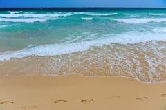 Солнечный тропический пляж на острове Стоковое Изображение