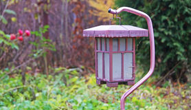 Солнечный фонарик в саде стоковые фото