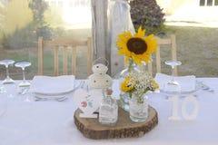 Солнцецветы Centerpiece, таблица 10 до 10, украшение Стоковые Изображения