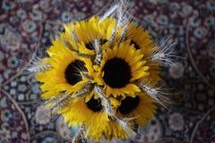 Солнцецветы wedding букет стоковое фото