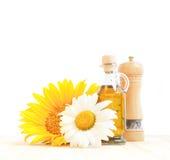 солнцецвет масла бутылки Стоковые Фотографии RF