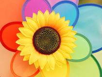 Солнцецвет пластмасс Стоковое фото RF