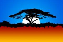 Солнце Африки свободное одичалое бесплатная иллюстрация
