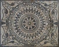 Солнце восстания на мозаике в римской вилле стоковые изображения rf