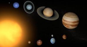 Солнце вселенной космоса планет солнечной системы Стоковое Изображение