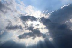 Солнце в облаке Стоковая Фотография
