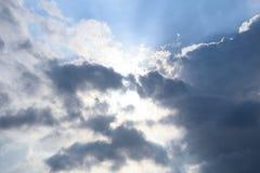 Солнце в облаке Стоковые Фотографии RF