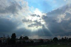 Солнце в облаке Стоковые Фото