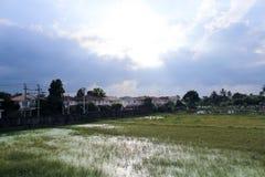 Солнце в облаке Стоковое Изображение