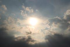 Солнце в облаке Стоковая Фотография RF