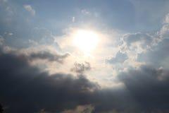 Солнце в облаке Стоковое Изображение RF