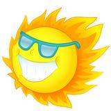 Солнце в солнечных очках Иллюстрация штока