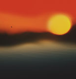 Солнце в тумане Стоковое Изображение RF
