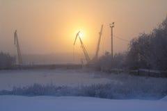 Солнце в тумане Стоковая Фотография RF