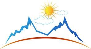 Солнце горы иллюстрация вектора