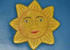 солнце деревянное Стоковое Изображение